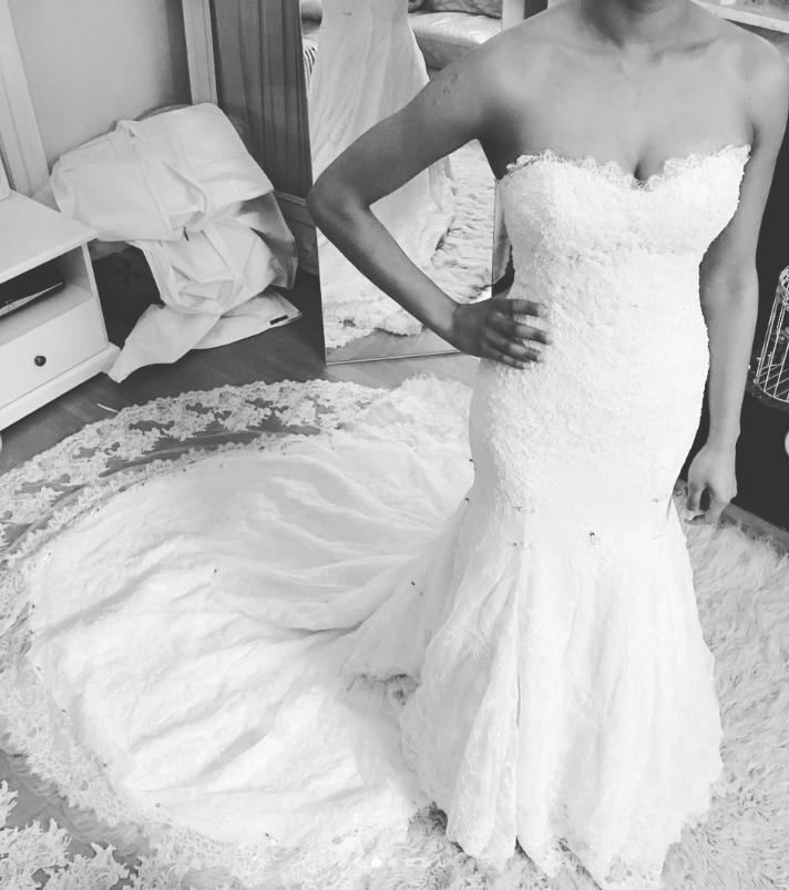 luxury wedding dress fitting