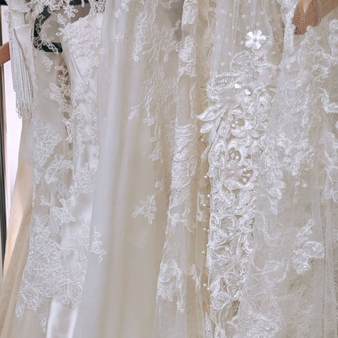 luxury embellished luxe boho wedding dress