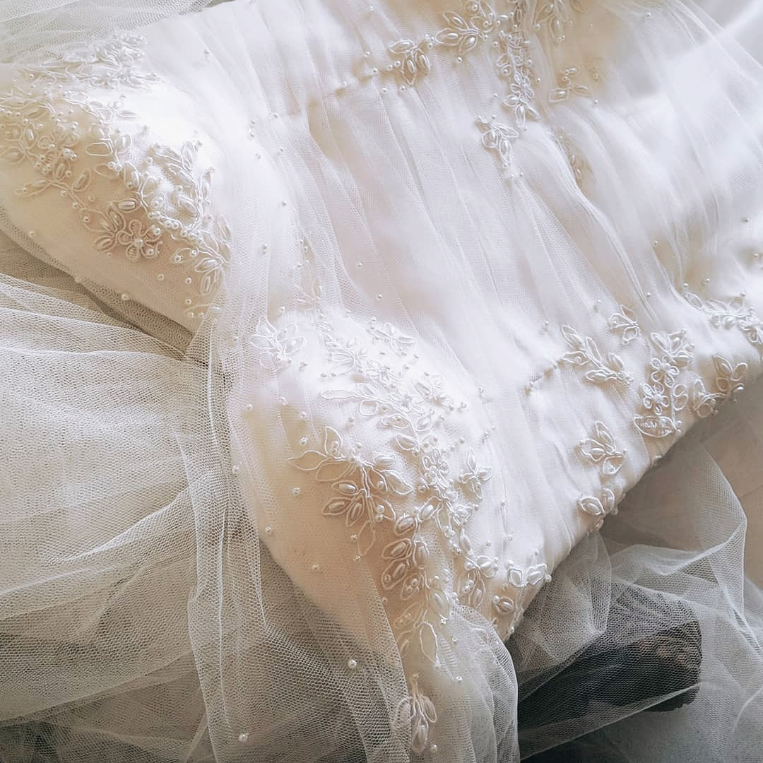 Beautiful romantic fine art wedding dress