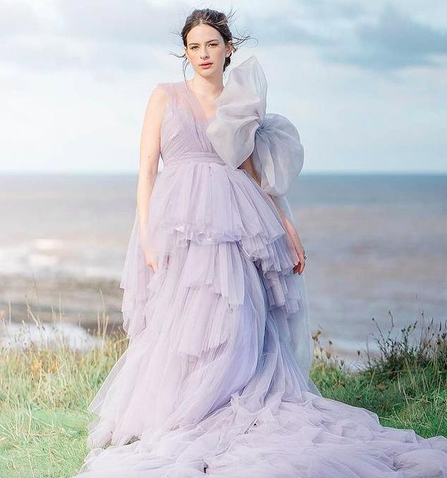 Beautiful floral wedding dress designer London